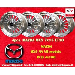 4 pcs. cerchi Mazda MX5 NB/NA 7x15 ET30 4x100 by Davide Cironi