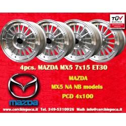 4 pcs. Mazda MX5 NB/NA 7x15 ET30 4x100 wheels by Davide Cironi