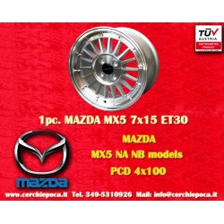 4 Stk. Felgen Mazda MX5 NB/NA 7x15 ET30 4x100 by Davide Cironi