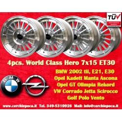 4 pz  llantas BMW Series 3, E21, E30 7x15 ET30 4x100 y Davide Cironi