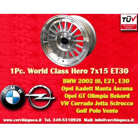 1 pc. cerchio BMW Opel Series 3, E21, E30 7x15 ET30 4x100 by Davide Cironi