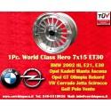 1 pc. BMW Series 3, E21, E30 7x15 ET30 4x100 wheel
