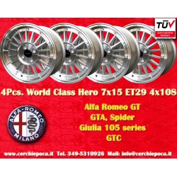 4 pcs. cerchi Alfa Romeo GT GTA GIULIA 7x15 ET29 4x108 by Davide Cironi