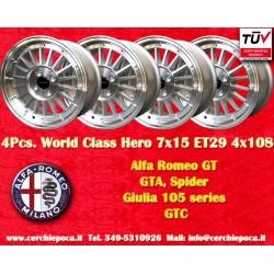 4 pcs. llantas Alfa Romeo GT GTA GIULIA 7x15 ET29 4x108 by Davide Cironi
