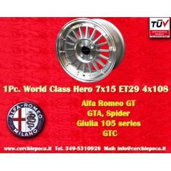 1 pc. cerchio Alfa Romeo GT GTA GIULIA 7x15 ET29 4x108 by Davide Cironi