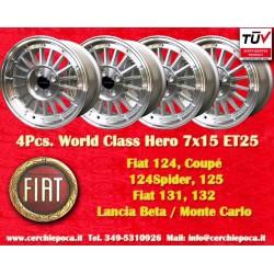 4 Stk. Felgen Fiat 7x15 ET25 4x98 by Davide Cironi