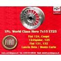 1 pc. llanta 7x15 ET25 4x98 Fiat 124/131, Spider, 125, X1/9, 131, 132