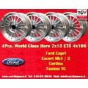 4 pcs. Ford Escort, Capri, Cortina  7x15 ET+5 4x108  wheels