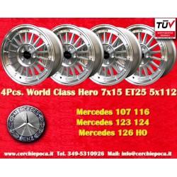 4 pcs. Mercedes Benz 7x15 ET25 5x112 wheels by Davide Cironi