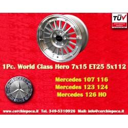 4 pcs. cerchi Mercedes Benz 7x15 ET25 5x112 by Davide Cironi