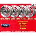 4 pcs. Ford Taunus Granada Consul 7x15 ET25 5x112 wheels
