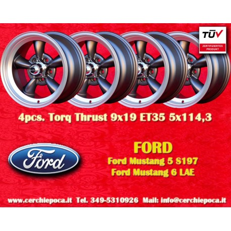 Ford Mustang Torq Thrust style 9x19 ET35 5x114.3 anthracite