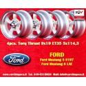 4 pcs. Ford Mustang Torq Thrust style 9x19 ET35 5x114.3 silver/finish wheels