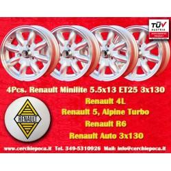 Minilite Renault R4/R5/R6 Turbo 5.5x13 ET25 3x130
