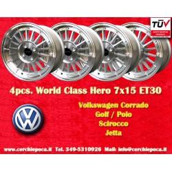 4 pcs. jantes Volkswagen 7x15 ET30 4x100 Golf Polo Corrado Jetta Scirocco