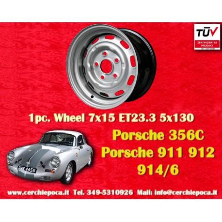 1 pc. Porsche 911 912 7x15 ET23.3E steel wheels