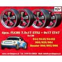 4 pcs. Fuchs RSR 7.5x17 + 9x17 Porsche 944 968 928 964 993 996 Boxster 986 wheels