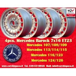 4 pcs. Mercedes Benz Barock Bundt Cake 7x16 ET23 5x112 wheels