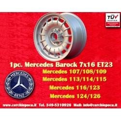 1 pz. llanta Mercedes Benz Barock Bundt Cake 7x16 ET23 5x112