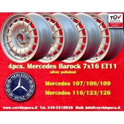 4 pcs. Mercedes Benz Barock Bundt Cake 7x16 ET11 5x112 wheels