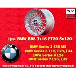 1 pc. BMW E30 M3 BBS X Spoke 7x16 ET20 5x120 wheel