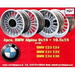 4 pz. llantas BMW Alpina 2 pcs. 9x18 ET12 + 2 pcs. 10.5 ET20 5x120 E23 E24 E31 E32 E34 E38