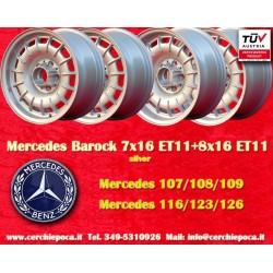 4 pz. llantas Mercedes Benz 2 pz. 7x16 ET11 + 2 pcs. 8x16 ET11 PCD 5x112 Barock Bundt Cake