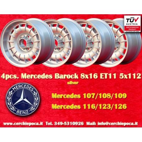 4 pcs. Mercedes Benz Barock Bundt Cake 8x16 ET11 5x112 wheels