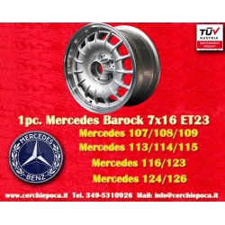 1 pc. cerchio Mercedes Benz Barock Bundt Cake 7x16 ET23 5x112 silver/polished