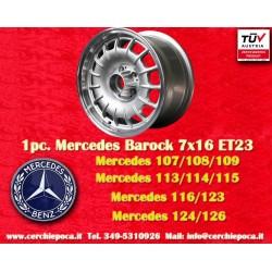 1 Stk. Felge Mercedes Benz Barock Bundt Cake 7x16  ET23 5x112 silver/polished