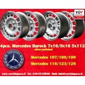 Mercedes Benz 2 pcs. 7x16 ET11 + 2 pcs. 8x16 ET11 PCD 5x112 Barock Bundt Cake wheels silver/polished