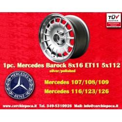 1 pc. cerchio Mercedes Benz Barock Bundt Cake 8x16 ET11 5x112 silver/polished
