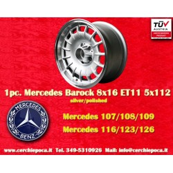 1 pc. Mercedes Benz Barock Bundt Cake 8x16 ET11 5x112 silver/polished wheel