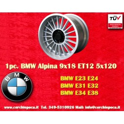 BMW Alpina 9x18 ET12 5x120 E23 E24 E31 E32 E34 E38