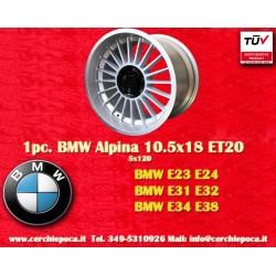 4 pcs. jantes BMW Alpina 2 pcs. 9x18 ET12 + 2 pcs. 10.5 ET20 5x120 E23 E24 E31 E32 E34 E38