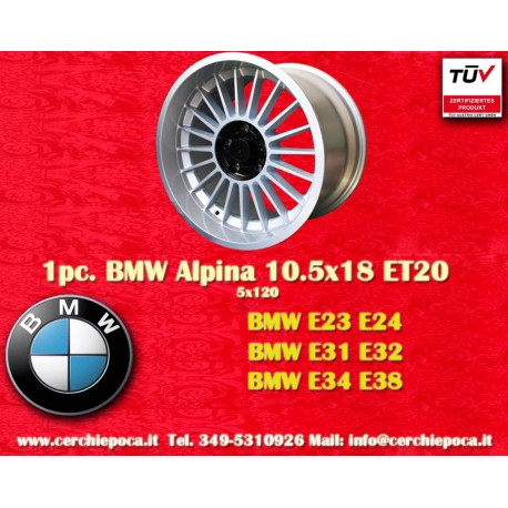 4 pcs. BMW Alpina 2 pcs. 9x18 ET12 + 2 pcs. 10.5 ET20 5x120 E23 E24 E31 E32 E34 E38 wheels