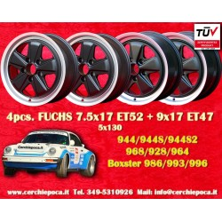 1 Satz 4 Stk Felgen Porsche Fuchs design 2 pcs. 7.5x17 ET52 + 2 pcs. 9x17 ET47 5x130