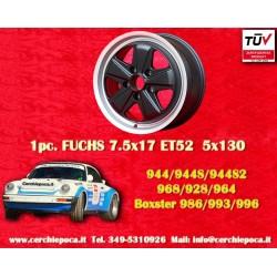 1 pc. Porsche Fuchs style 7.5x17 ET52 5x130 wheel