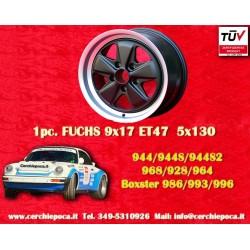 1 pz. llanta Porsche Fuchs style 9x17 ET47 PCD 5x130