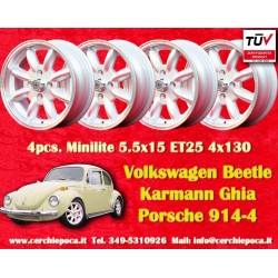 4 pcs. cerchi Volkswagen Minilite 5.5x15 ET25 4x130