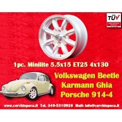 4 Stk. Felgen Volkswagen Minilite 5.5x15 ET25 4x130