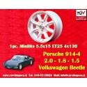 1 pc. Porsche 914 1.7, 1.8, 2.0 Minilite 5.5x15 ET25 4x130 wheel