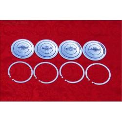 1 jeu de 4 badges centrale Campagnolo Modèle C47, avec un diamètre de 83 mm, pour jantes en alliage