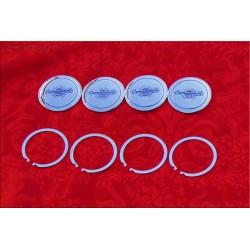 1 jeu de 4 badges centrale Campagnolo Modèle C47, avec un diamètre de 47.4 mm, pour jantes en alliage