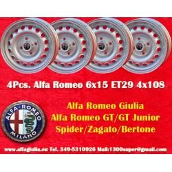 4 pcs. Alfa Romeo Giulia 6x15 ET28.5 4x108 wheels