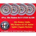 4 pcs. cerchi Alfa Romeo Giulia 6x15 ET28.5 4x108