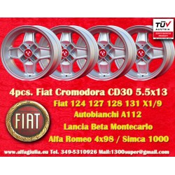 4 Stk. Fiat Cromodora CD30 5.5x13 ET7 4x98