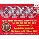 4 pz. llantas Fiat Cromodora CD30 5.5x13 ET7 4x98