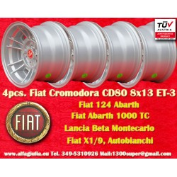 4 pcs Fiat Cromodora CD80 8x13 ET-3 4x98 wheels