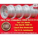 4 Stk. Felgen Fiat Cromodora CD80 8x13 ET-3 4x98